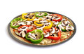 Free A Colorful Vegetarian Pizza Stock Photography - 27860412