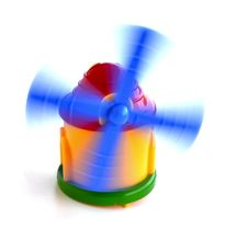 Free Toy Windmill In Motion Stock Image - 27860101