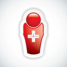 Free Red Glossy Doctor Icon Stock Photos - 27861813