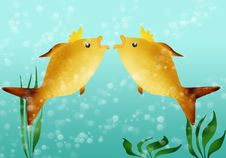 Free Two Golden Fishes Stock Photo - 27862420