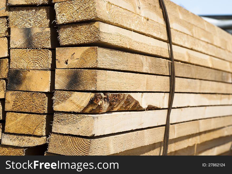 Sheaf of wooden boards