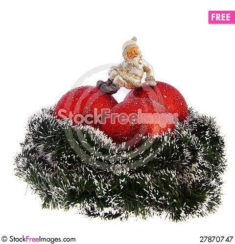 Free Christmas Decoration Isolated On White Royalty Free Stock Photography - 27870747