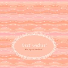 Free Greeting Card In Light-coral Colors Royalty Free Stock Images - 27873519