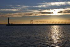 Free Lighthouse At Sunset Stock Photo - 27875100