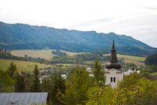 Rural Church Tower Royalty Free Stock Photography