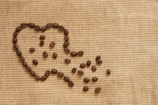 Free Love Symbol Made Of Coffee Stock Image - 27876861