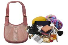 Free Contents Of Ladies  Handbag Stock Photos - 27876913