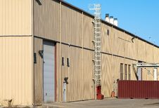 Modern Industrial Building Royalty Free Stock Images