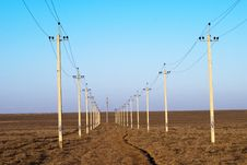 High-voltage Columns Royalty Free Stock Image