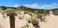Free Panorama Of Coastal Fence Landscape Stock Images - 27882724