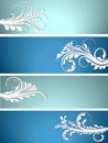 Free Floral Banner Collection Royalty Free Stock Photo - 27885205