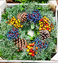 Free Evergreen Wreath Royalty Free Stock Photography - 27886607