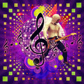 Free Abstract Musical Background With Guitar Player Stock Photography - 27888692