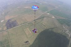 Skydiving Photo. Tandem. Stock Image
