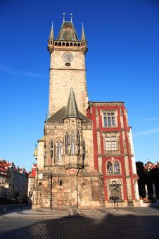 Free Prague Town Hall Royalty Free Stock Photo - 27885645