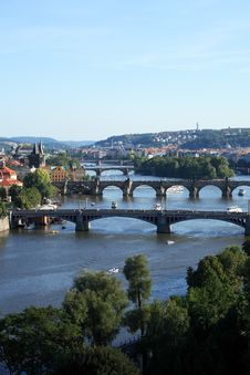 Free Prague Bridges Royalty Free Stock Photography - 27885647