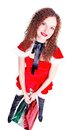 Free Pretty Girl As Santa With Shopping Stock Photography - 27890832