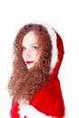 Free Portrait Of Cute Curly Girl Dressed As Santa Royalty Free Stock Image - 27890846