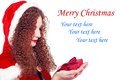 Free Pretty  Girl As Santa With Christmas Presents Royalty Free Stock Image - 27891046