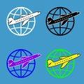 Free Air Travel Around The World Royalty Free Stock Photo - 27892355