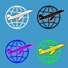 Air Travel Around The World Royalty Free Stock Photo