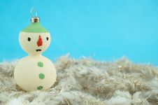 Free Christmas Snowman Royalty Free Stock Photo - 27894625