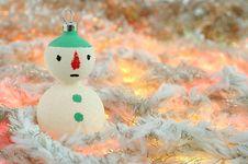 Free Christmas Snowman Stock Image - 27894631