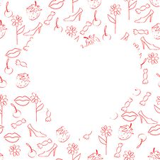 Free Heart On A Seamless Background Royalty Free Stock Image - 27895336