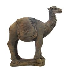 Ancient Chinese Clay Camel Figure Isolated Stock Photography