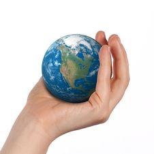 Free Globe In Hand Royalty Free Stock Images - 27896979