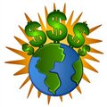 Free Earth Cash Dollar Signs Money Royalty Free Stock Photo - 2794715