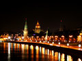 Free Riverside Of The Night Moscow Stock Images - 2798984