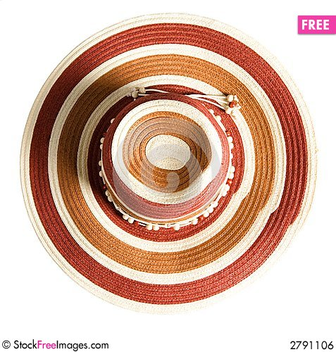 Free Holiday Striped Straw Royalty Free Stock Image - 2791106