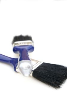 Free Two Paintbrushes. Royalty Free Stock Images - 2790149
