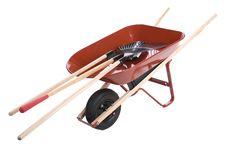 Free Wheelbarrow With Shovels Stock Image - 2791141