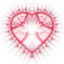 Free Patterned Heart Royalty Free Stock Photography - 2791207