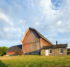 Sunset Barn Royalty Free Stock Images