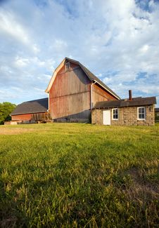 Free Sunset Barn Stock Photography - 2791752