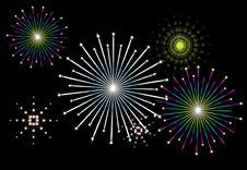 Free Vector Fireworks Royalty Free Stock Photography - 2791827