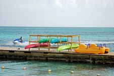 Free Colorful Kayaks In Jamaica Royalty Free Stock Image - 2791906