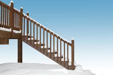 Free Snowy Stairway Stock Photos - 2791993