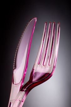 Free Plastic Knife And Fork Royalty Free Stock Photo - 2793085