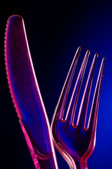 Free Plastic Knife And Fork Stock Photography - 2793132