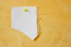 Free Lacerated Blank Sheet Royalty Free Stock Photos - 2793828