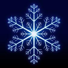 Free Glowing Snowflake Stock Photos - 2793883
