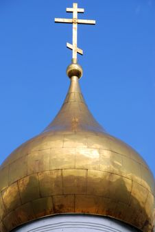 Cupola Of The Orthodox Church Royalty Free Stock Images