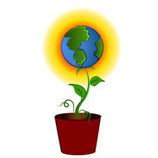 Free Earth As Flower In Pot Clipart Royalty Free Stock Photos - 2794718