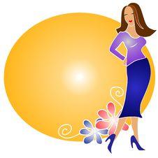 Free Fashion Blonde Girl Logo Gold Stock Photo - 2794780