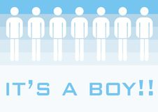 It S A Boy Royalty Free Stock Images