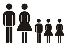 Free Family Silhouette Royalty Free Stock Photo - 2796965